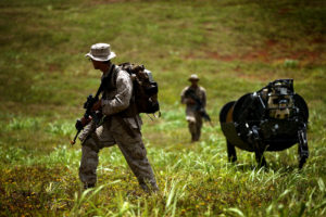 Meeting LS3: Marines experiment with military robotics
